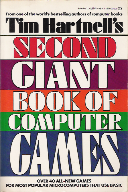 Tim Hartnell's Second Giant Book of Computer Games cover